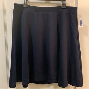 Old Navy Skater Navy Blue Mini Skirt